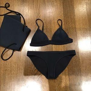 Triangl Gigi Moroccan midnight navy blue bikini